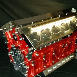 V12 Jaguar – rouge & carbone